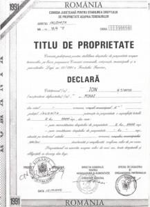 TITLU DE PROPRIETATE