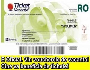 TICHETE DE VACANTA